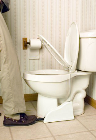 Hands Free Toilet Seat Lifter