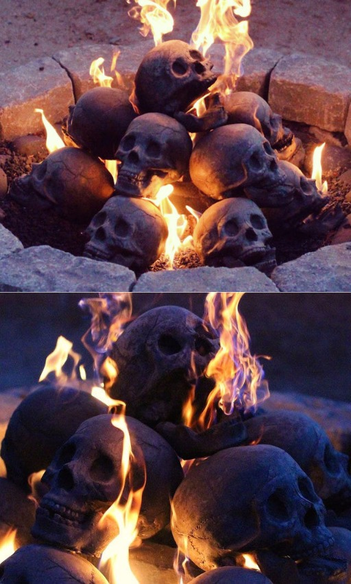 Human Skull Fire Log This Took My Money