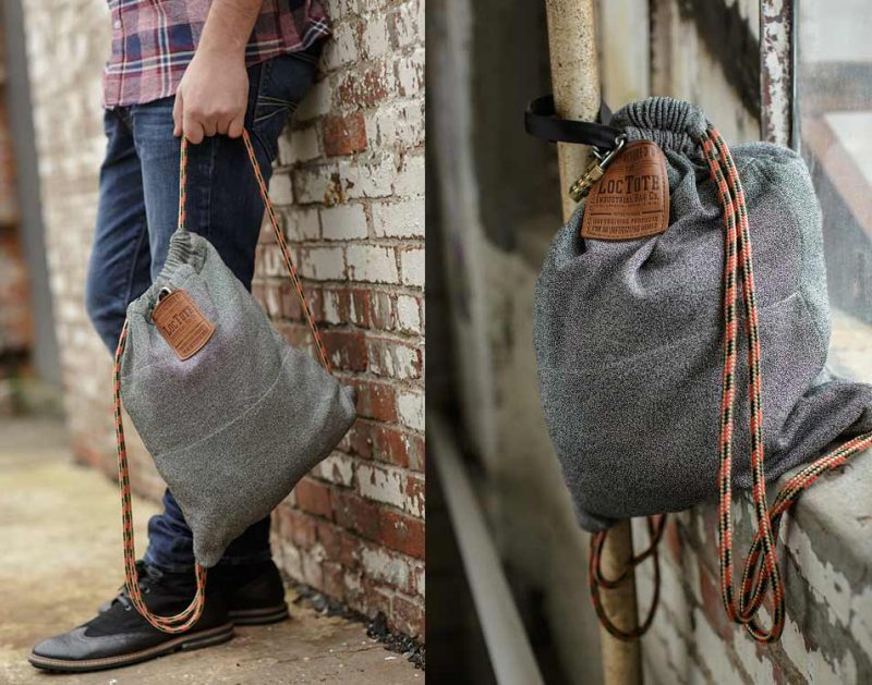 Theft Resistant Loctote Industrial Bag. The flak sack by the Loctote  Industrial Bag co. Is the toughest drawstring backpack ... 7831c6da3bed3