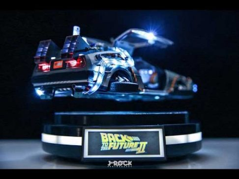 Levitating DeLorean Figure From Back to the Future