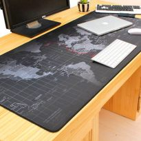 Giant Black World Map Mouse Pad