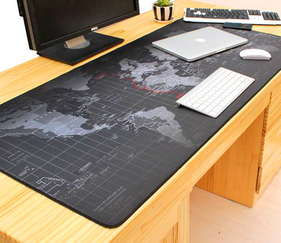 Giant Black World Map Mouse Pad This Took My Money