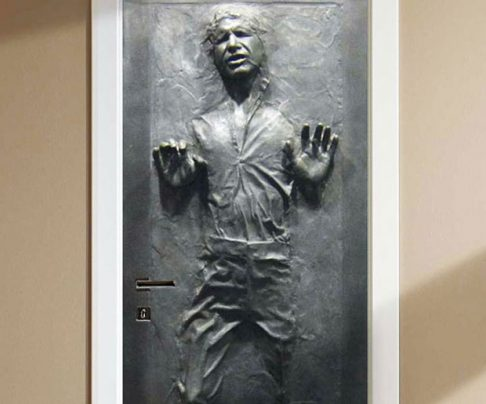 Han Solo Frozen Door Decal