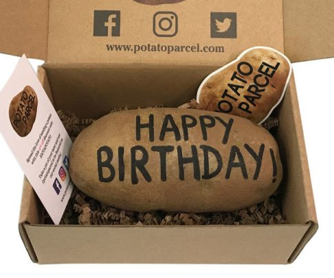 Potato Parcel – Send a message on a potato! Funny replacement for greeting cards.