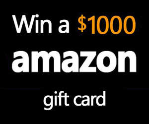 Enter for your chance to win a $1,000 Amazon Gift Card!