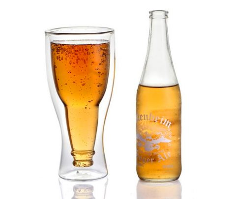 Upside Down Beer Bottle Glass